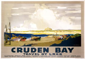 Cruden Bay, Fishing & Golf, Aberdeenshire. Vintage LNER Travel poster by Frank Mason. 1928